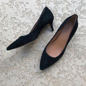 J. CREW Black Kitten Heel Pumps Size 7